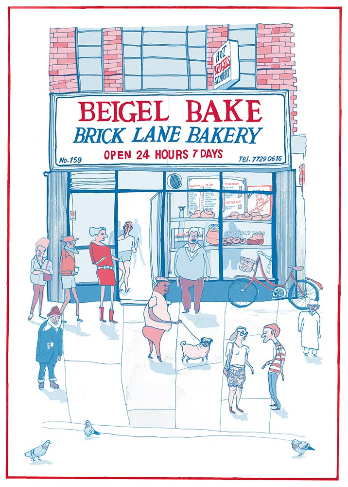 Brick Lane, Beigel Bake, beigels, open 24-hour, hot salt-beef